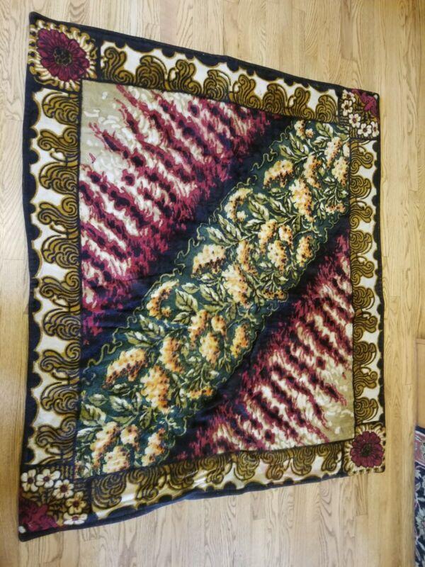 Nice Victorian Mohair Horsehair Carriage Buggy Lap Sleigh Blanket Rug Baker