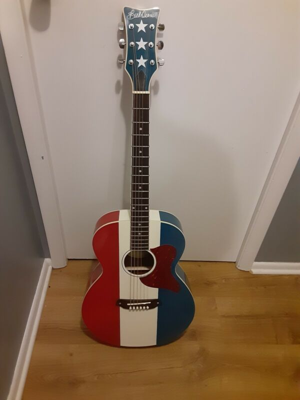 Buck Owens Red, White and Blue Guitar by Fender Acoustic