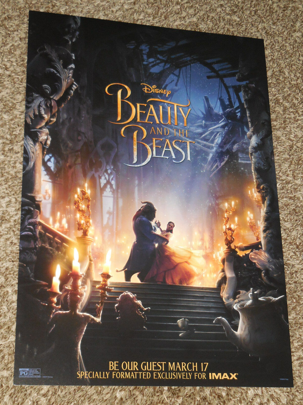 beauty and the beast 2017 imax 13x19 promo movie poster ebay