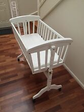 White wooden cradle & linen Balhannah Adelaide Hills Preview