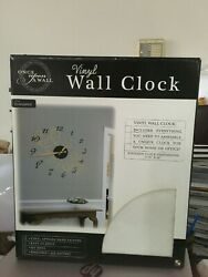 ONCE UPON A WALL ELEGANCE VINYL WALL CLOCK Brand  New!