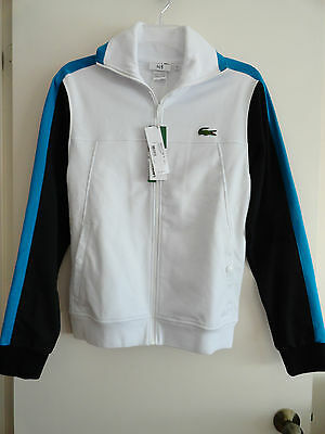 NWT LACOSTE MEN'S FULL ZIP TRACK JACKET ANDY RODDICK COLLECTION WHITE $165+