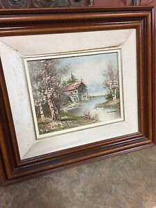"""12"""" x 10"""" oil painting in a nice wood frame"""
