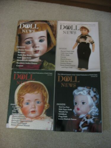 DOLL NEWS MAGAZINES (4) 2007 COMPLETE YEAR - SPRING,SUMMER,FALL & WINTER UFDC