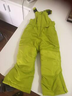 Kids snow suits gear 2 x Lime Green snow suits from USA
