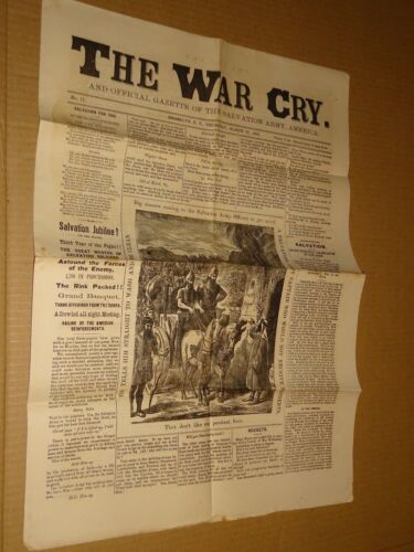 1883 Salvation Army War Cry Newspaper March 29