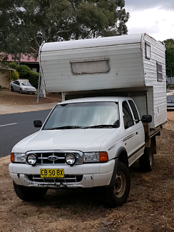 Slide on Camper with 4x4 ute.