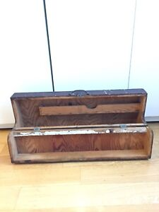 BEAUTIFUL ANTIQUE CARPENTERS TOOL BOX HAND MADE WOOD WORKING