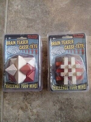 Brain teaser 3-D Puzzle Brand New Real Wood ()