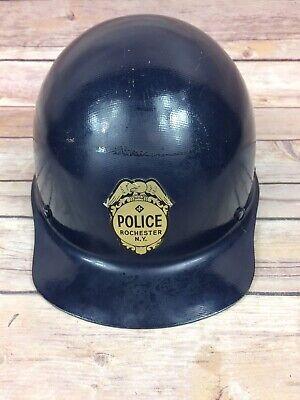 Vintage Msa Skullguard Fiberglass Hard Hat With Chinstrap