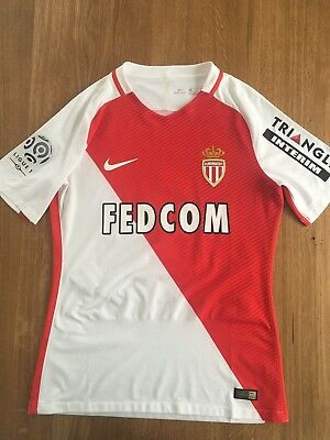 Maillot AS MONACO Porté FABINHO Match WORN Ligue 1 2016 2017 vs Nançy Mbappe image