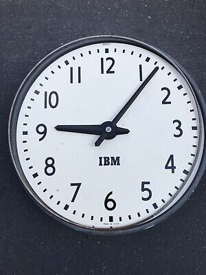 Vintage IBM 13-14 Inch Industrial Wall Clock USA Made Type 55 Office Company