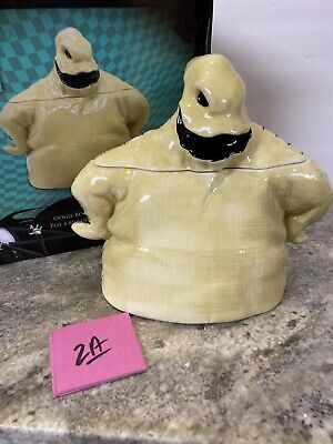 Nightmare Before Christmas OOGIE BOOGIE Ghost CERAMIC COOKIE JAR Halloween (2a)