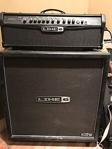 Line 6 guitar amp and head