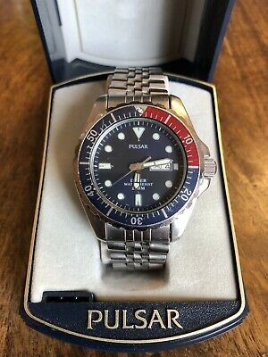 Vintage Men's Pulsar 7N36-OABO Professional Divers Watch - 200m