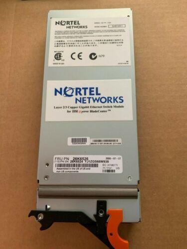 Nortel Networks 3 Layer Ethernet Switch Module For Ibm Server 26k6526,  26k6524
