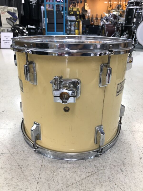 "Pearl 14 x 11"" World Series Tom Drum White (now yellowed)"