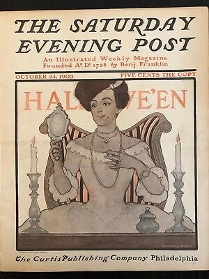 Illustrated  Saturday Evening Post October 24, 1903  Moore Halloween Cover Art](Saturday Evening Post Halloween)
