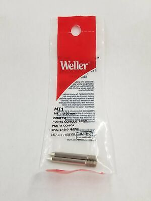 New Weller Mt1 2 Pack Of 18 Conical Tips For Sp23 And Sp25d Soldering Irons