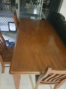 Timber table with 6 chairs Clontarf Redcliffe Area Preview