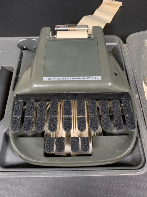STENOGRAPH Secretarial Shorthand Machine with Case Green