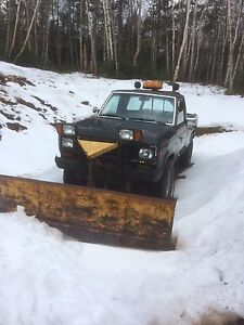 Ford ranger with plow