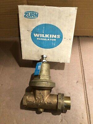 Zurn Wilkins Adjustable Home Water Pressure Regulator Reducing Valve 34 New