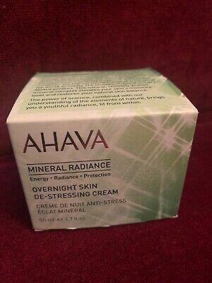 AHAVA Mineral Radiance Overnight Skin De-Stressing Cream, 50ml, New in Box