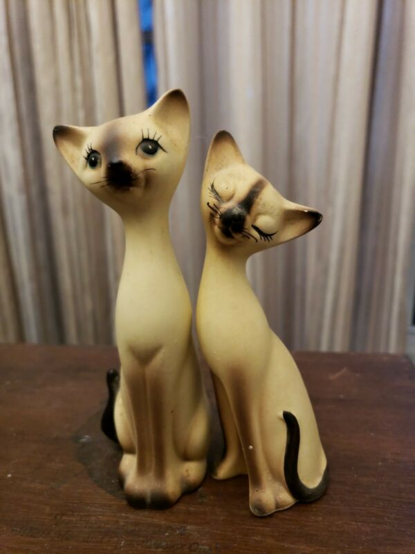 Vintage Siamese Cat Salt & Pepper Shaker By Kenmar-Japan