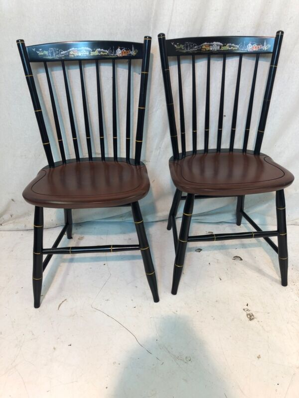 Hitchcock chair co Black/riverton Seaport Side Chairs used hitchcockdotcom