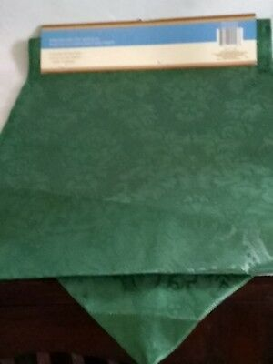 Table runners bundle, 12 in x 72 in; red, green, Polyester. 5 for $4.00
