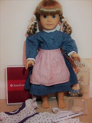 American Girl Doll Kirsten Retired. Midsummer outfit, book Great condition