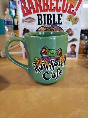 RAINFOREST CAFE CHA CHA THE TREE FROG GREEN CERAMIC 16 oz COFFEE MUG (G31)