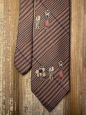 "History of 1920s Men's Ties, Neckties, Bowties Eddie Bauer Outdoor 1920's Golf Theme Houndstooth Plaid Tie 58 X 3.75"" $19.00 AT vintagedancer.com"