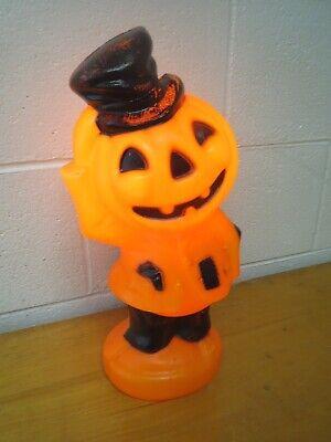 Vintage EMPIRE Halloween Blow Mold Jack O Lantern Pumpkin Head Scarecrow