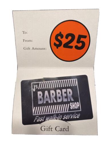 J s Barber Shop Delaware 25 Gift Card - $5.00