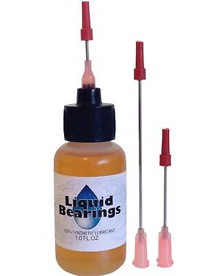 "Liquid Bearings oil with EXTRA-LONG 3"" needle, BEST 100%-synthetic lubricant !!"