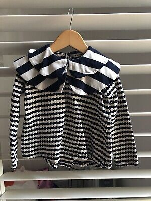 EUC Wolf & Rita Stripe Collared Shirt Size 4