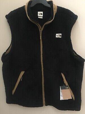 The North Face Sherpa Fleece Campshire Vest Black/Khaki Men's XXL 2XL NWT New