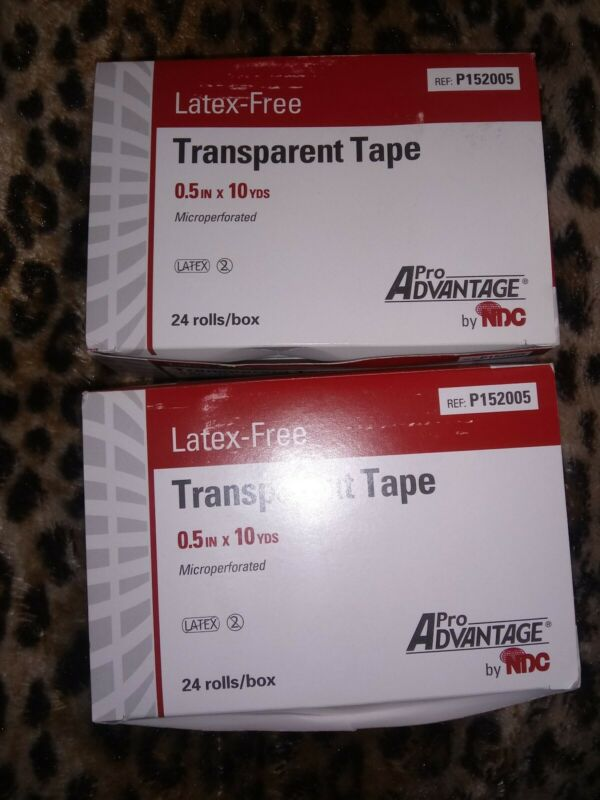 2 Boxes of 24 rolls ea. 0.5in x 10 yds(ea roll)Pro Advantage® Transparent  Tape