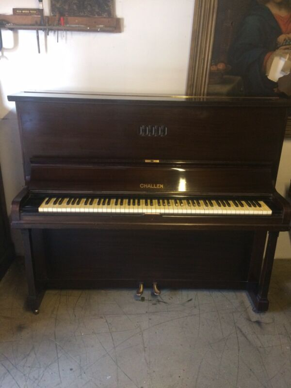C1932 Good Quality Challen Upright Piano. Free Delivery In Essex.