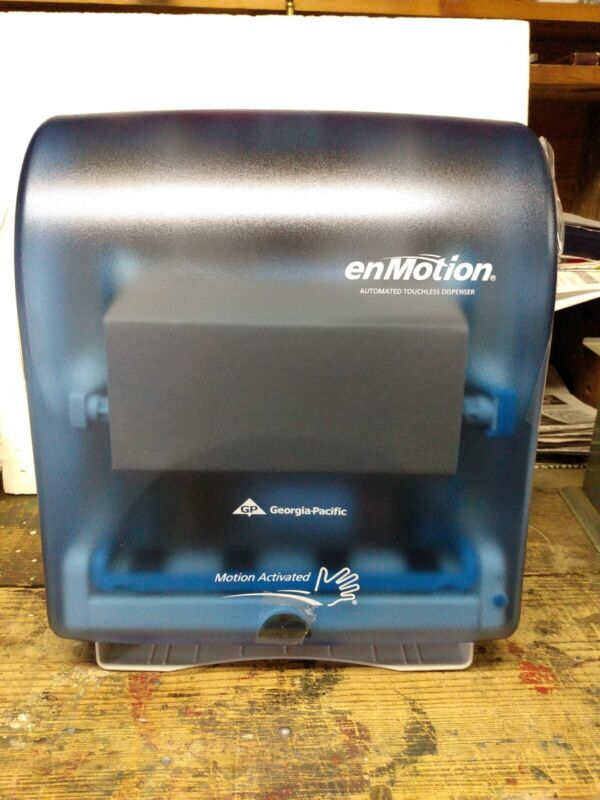 NIB Automatic Touchless Paper Towel Dispenser Clear Blue (4 Avail) FREE SHIP