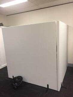 Office Partitions x 2 - Free-standing, excellent condition.
