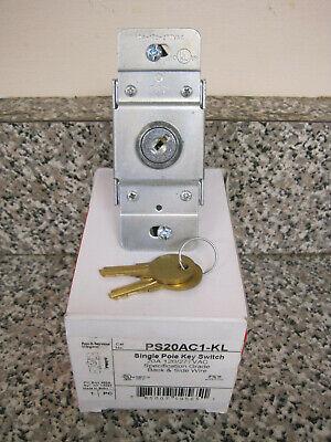 New Pass Seymour Legrand Ps20ac1-kl Single Pole Key Switch 20a 120277vac