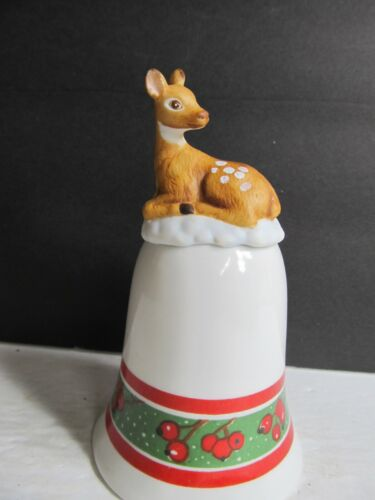 Genuine Morgan inc. 1988 Enesco Ceramic Deer Bell  Bell2