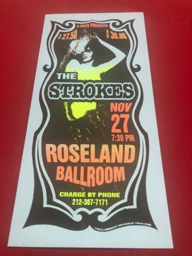 The Strokes Silkscreen Concert Handbill Nov 27 2002 Roseland NYC Mark Arminski