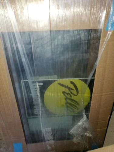 "Pella Impervia Black Fiberglass Picture / Transom Window Glass 33.5"" x 22"""