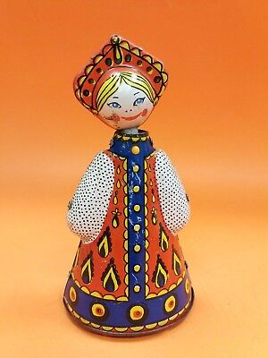 VINTAGE USSR RUSSIAN SOVIET FOLK COSTUME GIRLS DOLL  WIND UP TIN TOY](Wind Up Toy Costume)