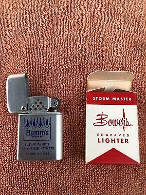 Rare Hamm's Beer Crown Logo California Storm Master Lighter N.O.S Box