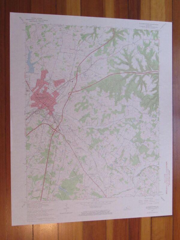 Elizabethtown Kentucky 1968 Original Vintage USGS Topo Map